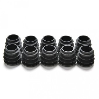 Dia Plastic Round Table Chair Leg Feet Tube Pipe Insert End CapBlack 10pcs 19MM