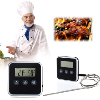 Digital Cooking Probe Food Timer Kitchen Oven Grills MeatThermometer Timers - 2