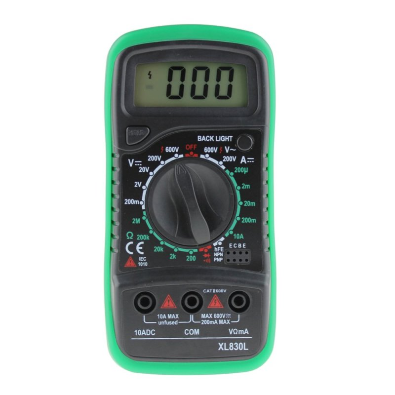 Digital LCD Multimeter Voltmeter Ammeter Volt Tester Test(Export)
