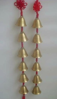 Double bell opening bells copper wind chimes sound pendant