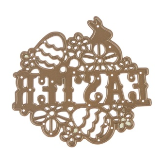 Easter DIY Metal Embroidery Stencil Scrapbook Craft Cutting Die - intl