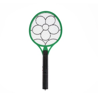 Electric Insect Pest Fly Mosquito Swatter KillerRechargeable(Green) - intl