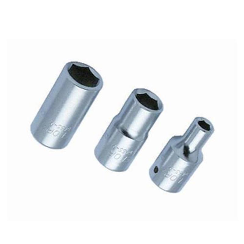 "ELORA 1/4"" Drive Hex Sockets Series 1455  Metric MM Short 6 point Sockets [1455 - 3.5MM To 14MM]"