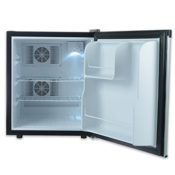 EuropAce ER 9250 50 litres Bar Fridge, DUO Thermo Semi conductor & Fans VCM Door Silver - 3