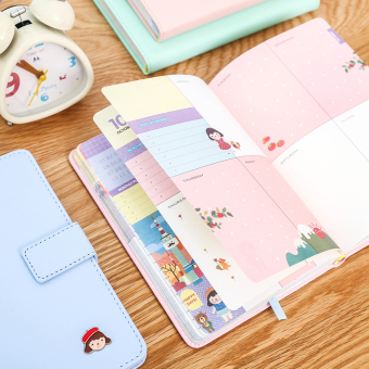 Exquisite cute color pages notebook Journal notes BENSE.O