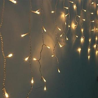 Harga Fairy Curtain Lights - 3M 188 Led Warm White (Power Point)