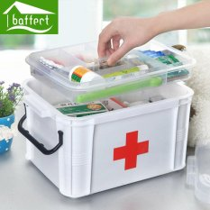 First Aid Kit Box Large Family Home Medicine Chest Cabinet Health Care Plastic Drug Storage Box 24x18x14cm - intl