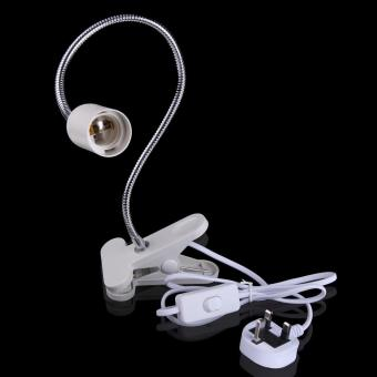 Harga Flexible E27 LED Lamp Holder On off Switch 50Cm Power Cable Cord w/ Clip