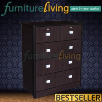 Harga Furniture Living Chest of Drawers (Walnut)