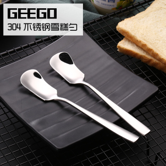 Geego304 long handled ice cream spoon stainless steel spoon