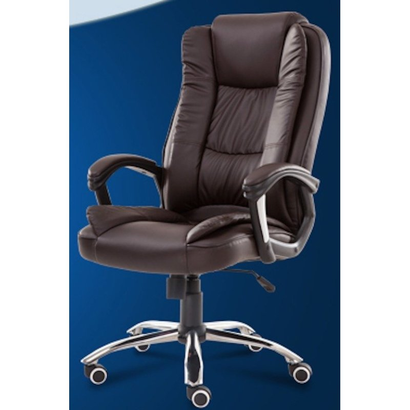 Genuine Leather Boss Chair 338 (Chocolate) Singapore
