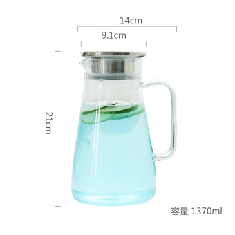 Glass heat-resistant high-temperature cups cold water pot
