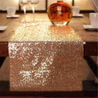 Glitter Table Runner Sparkly Wedding Party Decor - intl