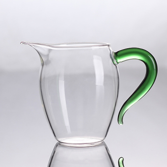 Green the color the tea sea heat-resistant glass fair cup