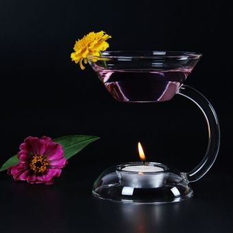 Heat-resistant glass candle incense holder oil lamp