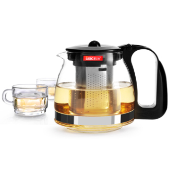 Heat-resistant glass is not stainless steel glass tea set tea is