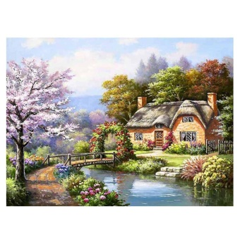 House By The River 5D Diamond DIY Painting Kit Home Decor Craft - intl