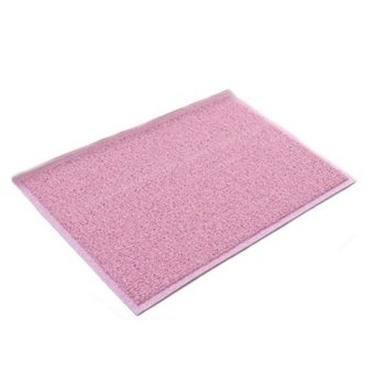 Harga Colour Coil PVC Floor Mat (Pink-White)
