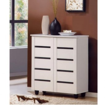 Harga Furniture Living Shoe Cabinet (White)