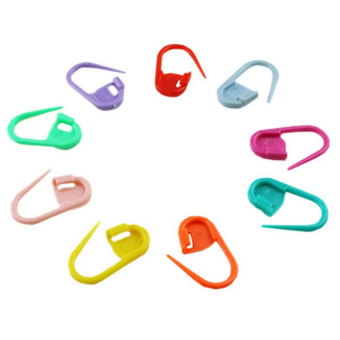 Knitting Crochet Locking Stitch Markers 100 pieces Set Multicolor