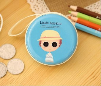 Harga Amelie Blue Cute Cartoon Tin Coin Pouch Earphone Holder