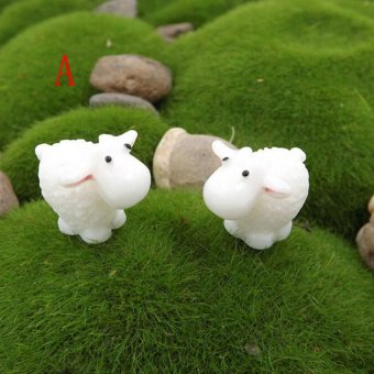 Harga 5Pcs Kawaii Mini Sheep Animals Home Micro Fairy Garden Figurines Miniatures Home Garden Decor DIY Accessories Style A - intl
