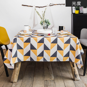 Home tablecloth fabric Linen table cloth pad mat European minimalist modern rectangular tablecloth coffee table cloth Nordic