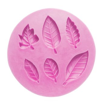 Leaves Pattern Silicone Sugar Jelly Baking Candy Fondant Craft Mold DIY Cake Decorating Mould