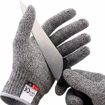 [Size M] Cut Resistant Gloves Level 5 Hand Protection Dyneema Polyethylene Safety Food Grade Palm Kitchen Work - intl