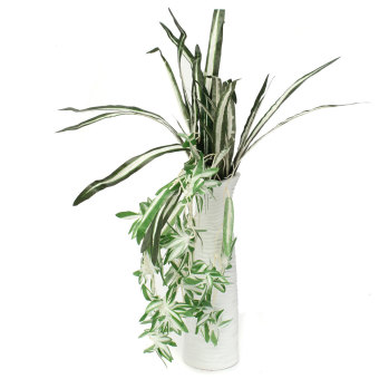 Harga Audew Artificial Silk Spider Plant Chlorophytum Comosum Faux Greenery Home Decoration(Export)(Intl)