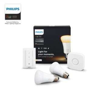 Harga Philips Hue white ambiance starter kit (1x bridge, 2x white ambiance bulbs, 1x Dimmer switch) [new]