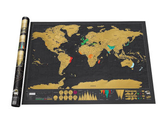 Harga Leegoal Novelty World Map Educational Scratch Off Map Poster Travel Map Wall Map - Black