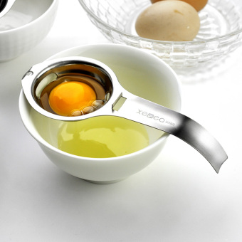 Harga 304 stainless steel kitchen gadgets egg yolk egg white protein separator filter egg egg separator points separated egg egg separator