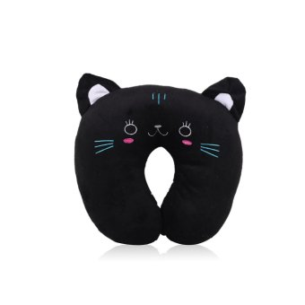 Harga Travel Animal Shape Kawaii Soft Dolls Car Headrest U-Shaped Plush Pillow Black Cat (Intl)