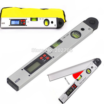 Harga 400mm 16inch Digital Protractor Digital angle level leveling inclinometer goniometer digital Angle Finder