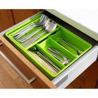 Harga double layers drawer organizer
