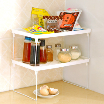 Harga Corner kitchen plastic multi folding household microwave oven shelf bathroom storage over 39 yuan wholesale