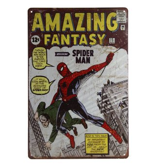 Harga SPIDER MAN Amazing Fantasy 15 Marvel COMIC A4 art print poster Vintage, Tin Sign, Man Cave, Hot Rod