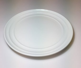 "Moderne 10"" Dinner Plate with Modern Line, 5pcs (White)"