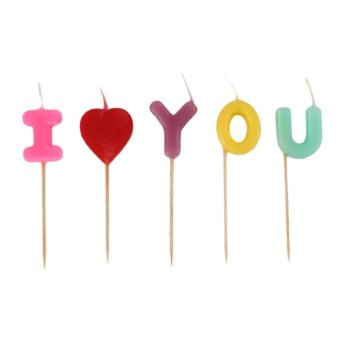 Harga Befu I LOVE YOU Birthday Candle Gift Cartoon Craft Cute Party Supplies Cake Candles - intl