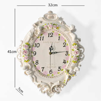 Harga Fashion European living room art decorative Wall Clock