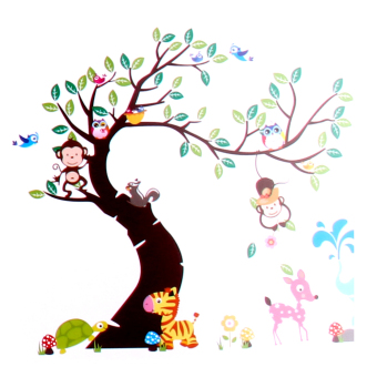 Harga Hot Owl Monkey Kids Nursery Room Decor Wall Stickers Wallpaper