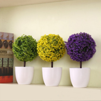 Harga Artificial flower bonsai simulation potted plants simulation cherry snowball home desktop plant creative wedding supplies decorative