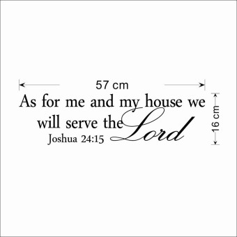 Harga As for me and my house we will serve the Lord Bible Religious Wall Decal Sticker