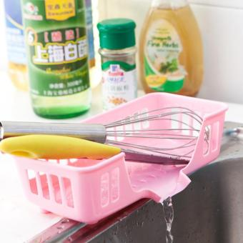 Harga Storage Basket Kitchen Sink Drain And Hollow (Pink)