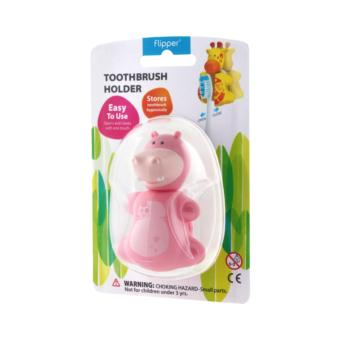 Harga Flipper Toothbrush Holder (Fun Animal - Hippo)