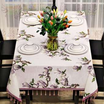 American rustic dining table cloth coffee table tablecloth 60 cotton imitation desk modern pastoral printed rectangle table cloth