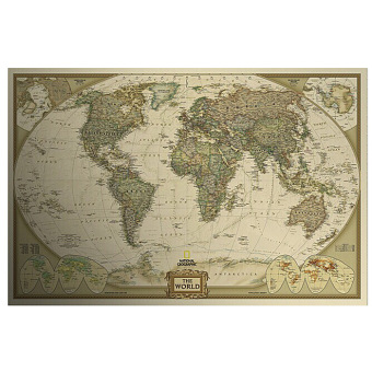 Harga Vintage Style Retro Paper Poster Log The World Map Decor Giant Chart the Atlas - intl
