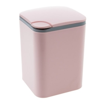 Harga Home home push-desktop trash home plastic small dustbin living room office desk mini garbage basket