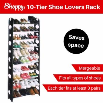 Harga Shoppy 10-Tier Shoe Lovers Organizer Rack